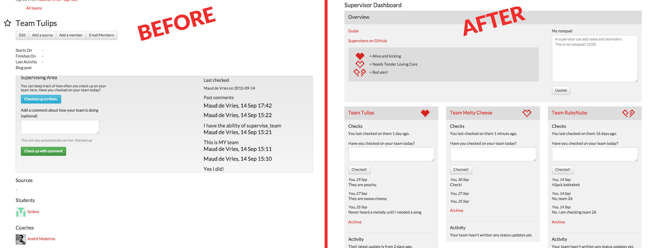 Quite the make-over.
