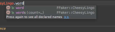 Oh yeah, cheesy lingo FFaker seeds.