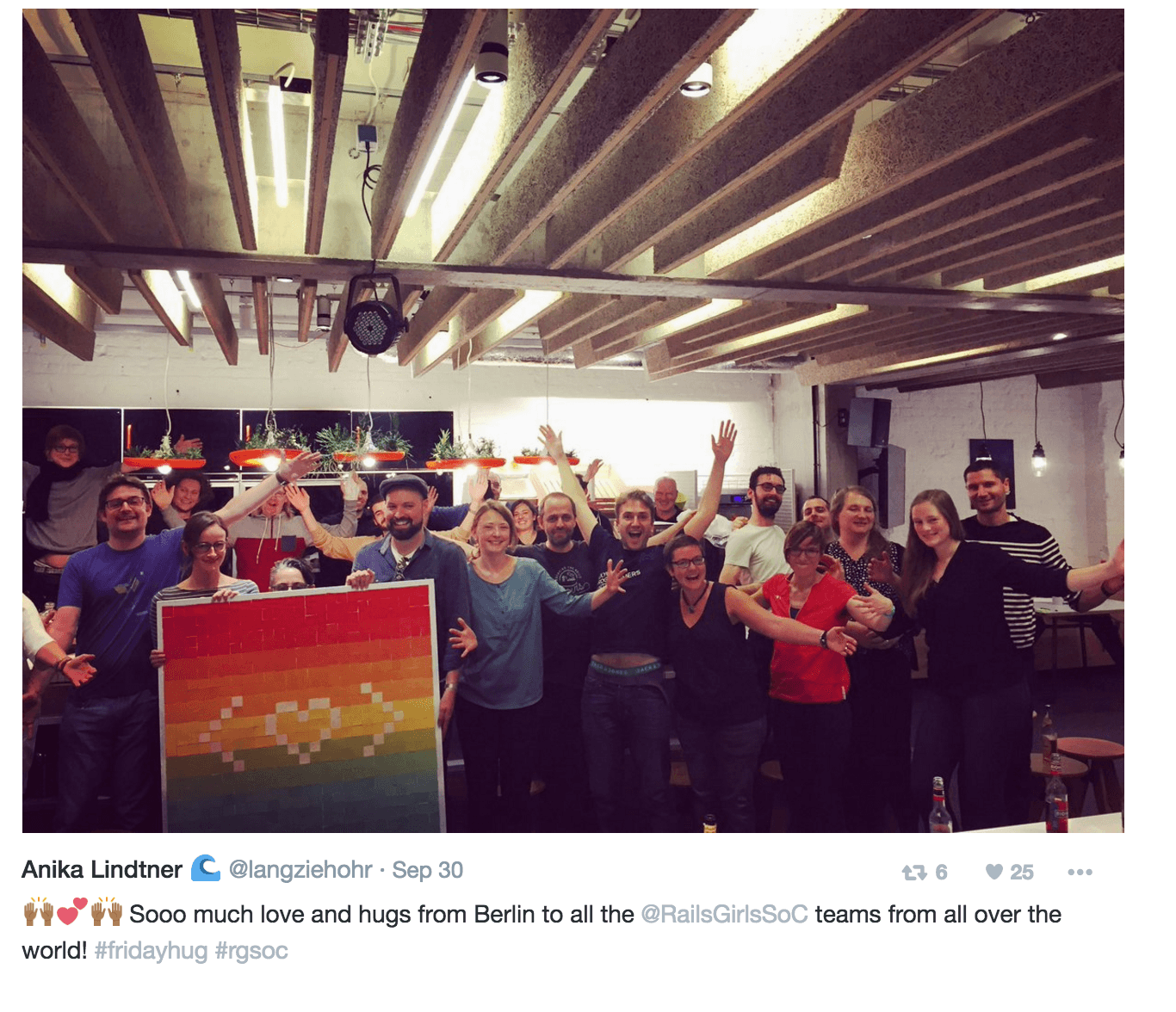 Excerpt from Twitter Moment: celebration at SoundCloud