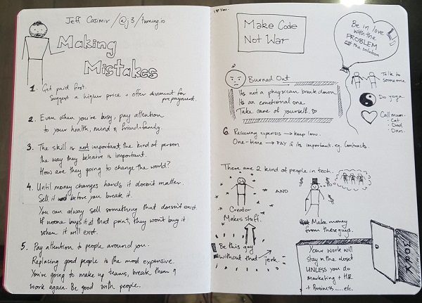 Notes on Jeff Casimir talk by Mila