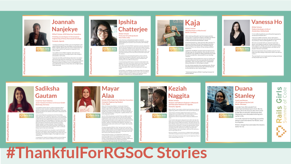 #ThankfulForRGSoC Stories (image by Ana Sofia Pinho)