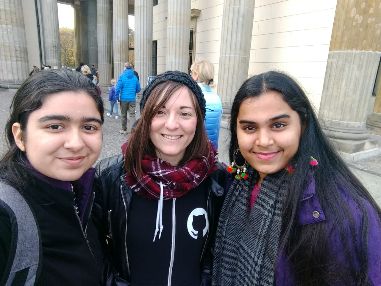Rupal and Avneet with Laura Gaetano, RGSoC organizer