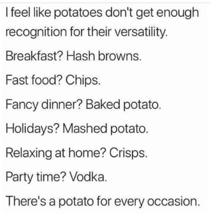A potato for everything